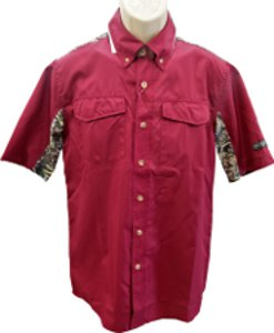 Brush Country Short Sleeve Maroon Executive Shirt