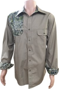 Brush Country Long Sleeve Shooter Shirt Khaki/Camo