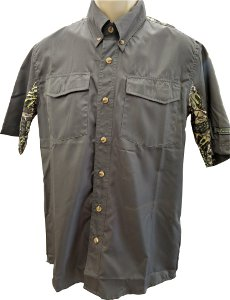Brush Country Short Sleeve Grey Executive Shirt