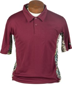 Brush Country Infinity Pullover Short Sleeve Shirt in Maroon