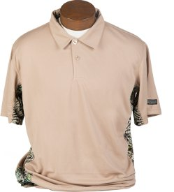 Brush Country Infinity Pullover Short Sleeve Shirt in Khaki