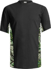 Men's Brush Country Black with Camo Accent Short Sleeve Tee