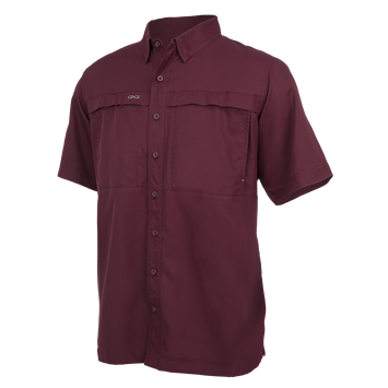 Men's Microfiber Shortsleeve Maroon - MAR1003